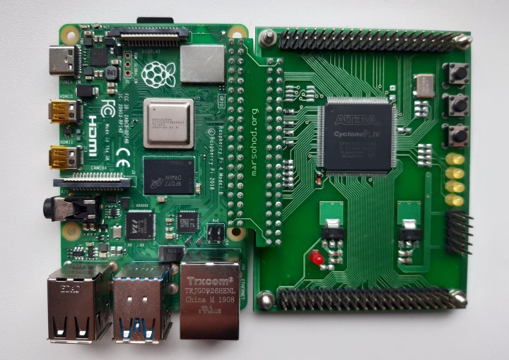 raspberry pi4 with FPGA Cyclone IV board marsohod2rpi