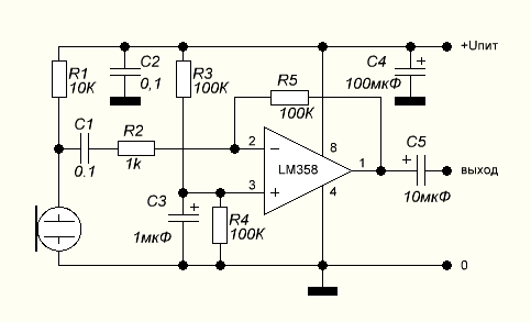 schema microphone amplifier
